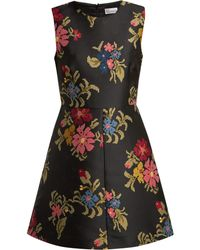 RED Valentino - Floral Jacquard Dress - Lyst