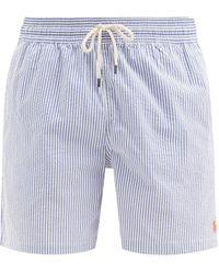 Polo Ralph Lauren トラベラー シアサッカースイムショーツ - ブルー