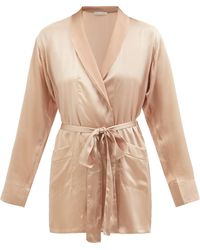 Araks Madeline Silk-satin Robe - Natural