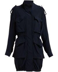 Norma Kamali Cargo Pocket Stretch-jersey Dress - Blue