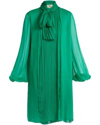 By. Bonnie Young Neck-tie Silk-chiffon Dress - Green