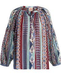 Le Sirenuse - Sun Arlechino-print Cotton Shirt - Lyst