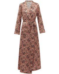 Morpho + Luna X Kinloch Milano Bianca Mirage Print Silk Robe - Pink