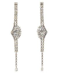 Sonia Rykiel - Crystal-embellished Drop Earrings - Lyst