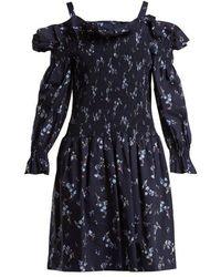 Rebecca Taylor - Francine Off-the-shoulder Cotton Dress - Lyst
