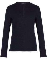 Rag & Bone - Gregory Long Sleeved Wool Blend Henley Top - Lyst