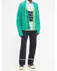 Marni Painted-stripe Straight-leg Jeans - Black