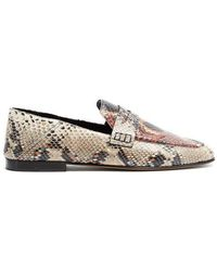 Isabel Marant - Fezzy Collapsible-heel Python-effect Loafers - Lyst