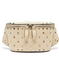 Valentino - Rockstud Spike Quilted Leather Belt Bag - Lyst
