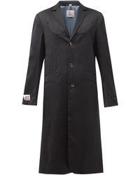 Boramy Viguier Embroidered Wool-crepe Coat - Black