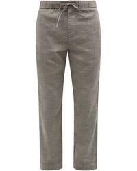 Frescobol Carioca Sport Linen-blend Pants - Gray