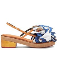 Marni | Bow-embellished Leather Sandals | Lyst