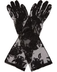 Ann Demeulemeester - Floral Lace Gloves - Lyst
