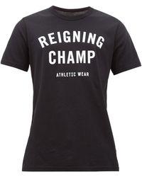 Reigning Champ コットンtシャツ - ブラック
