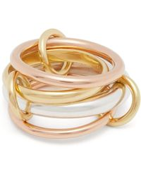 Spinelli Kilcollin - Lyra 18kt Gold And Silver Ring - Lyst
