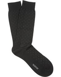 Pantherella - Gadsbury Pin Dot Cotton Blend Socks - Lyst