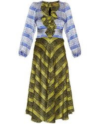 Duro Olowu Harlem Deco-Print Silk Dress - Green