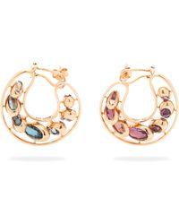 Marie Mas - Dancing Creole Multi Stone 18kt Rose Gold Earrings - Lyst