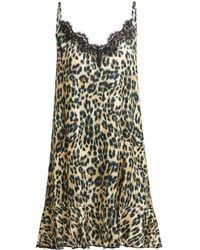 Icons - Jasmin Leopard Print Silk Blend Slip Dress - Lyst