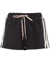 The Upside Efrem Striped Shorts - Black