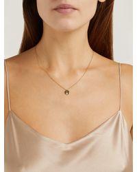 Raphaele Canot Set Free 18kt Gold & Diamond R-charm Necklace - Metallic