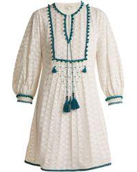 Talitha - Ilaria Tassel-embellished Silk-blend Dress - Lyst