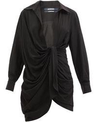 Jacquemus バイア ノット ミニシャツドレス - ブラック