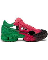 adidas By Raf Simons Replicant Ozweego Mesh And Leather Sneakers - Multicolor