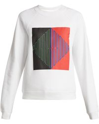 Proenza Schouler - Logo-print Cotton-jersey Sweatshirt - Lyst