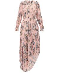 Preen By Thornton Bregazzi - Robe plissée asymétrique à imprimé floral Delaney - Lyst