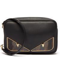 Fendi - Bag Bugs Logo Eyes Leather Camera Bag - Lyst