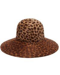 Lola Hats - Leopard-print Felt Hat - Lyst