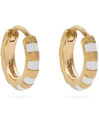 Marc Alary - Enamel & Yellow-gold Earrings - Lyst