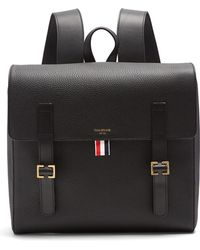 Thom Browne | Buckle-strap Grained-leather Backpack | Lyst