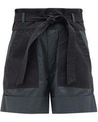Sea Gabriette Patch-pocket Cotton Shorts - Grey