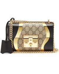 bb1b3aab698 Gucci - Padlock Gg Supreme Leather Shoulder Bag - Lyst