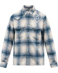 BBCICECREAM チェック フランネルシャツ - ブルー