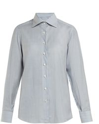 1700d5be314576 Giuliva Heritage Collection - The Elvira Striped Wool Shirt - Lyst
