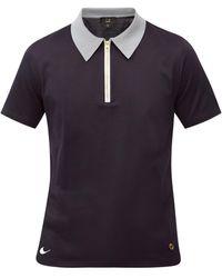 Dunhill ファスナーカラー コットンポロシャツ - ブルー