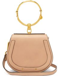 Chloé Nile Small Leather And Suede Cross-body Bag - Pink