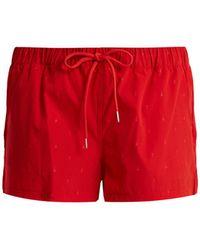 The Upside - Sandhills Arrow-print Performance Shorts - Lyst