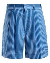 Raey - Deck Chair Striped-cotton Shorts - Lyst