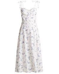 Rebecca Taylor - Francine Floral-print Cotton Dress - Lyst