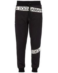 Dolce & Gabbana - Logo-print Cotton Track Trousers - Lyst