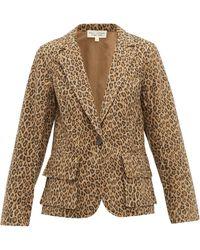 Nili Lotan - Blazer en coton à imprimé léopard Addison - Lyst