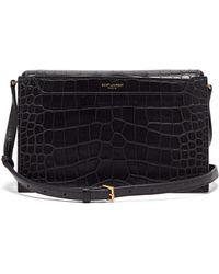 Saint Laurent - Catherine Crocodile Effect Leather Cross Body Bag - Lyst