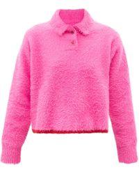 Jacquemus ネーブ ポイントカラーセーター - ピンク