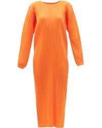 Pleats Please Issey Miyake ロングラインドレス - オレンジ