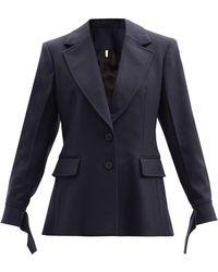Chloé Chloé ウールツイルジャケット - ブルー