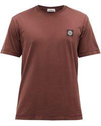 Stone Island ロゴ コットンtシャツ - ブラウン
